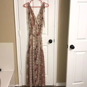 Lulu's deep V, Indi boho maxi dress